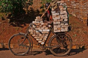 bricks on bicycle burnudi