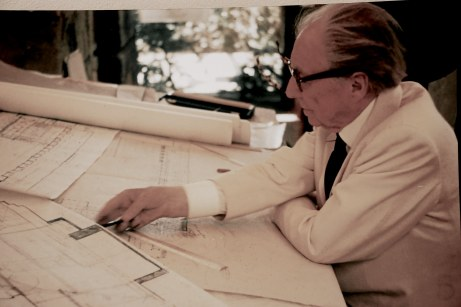 Frank Lloyd Wright, Architect, Drafting the Marin County Civic Center, 1958 or 1959